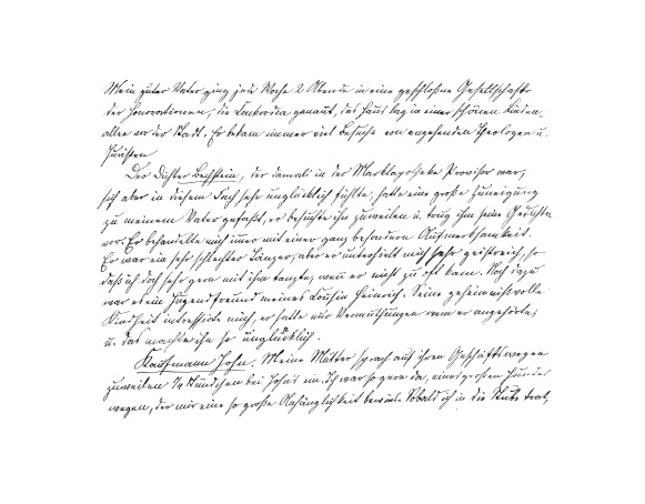 Schriftprobe aus den Lebenserinnerungen der Rosalie Hübner