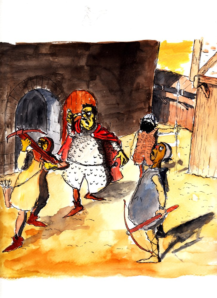 Um die Prinzessin Jutta zu befreien, legt sich Emil auch mit den allergrößten Schurken an! Hier im Bild der fiese Graf von Beichlingen.